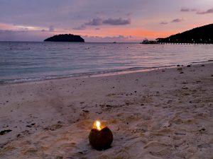 coconut light on beach